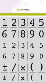 alfabet cijfers Courier A5 - H=16 & 23mm A5 (2110)