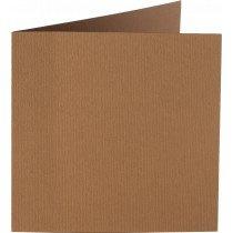 vierkante kaart (13,2 x 13,2 cm) nootbruin (939) voorheen 39 nootbruin
