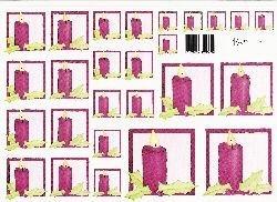 knipvel: roze kaarsjes
