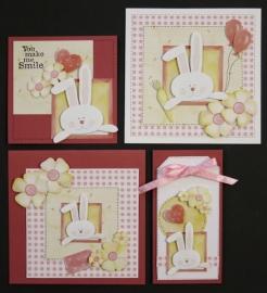 Voorbeeld kaarten konijnen