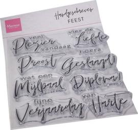 Clear stamp Handgeschreven Feest CS1086