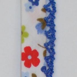 Biaisband blauwe bloemen (26)