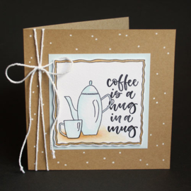 Clear Stamp Carla Kamphuis: A5 - handletter - clearstamps A5 - handletter - Coffee please (Eng) 2111