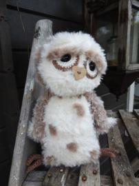 Haakpakket Haakpakket Funny Furry Owl Soft lichtbruin