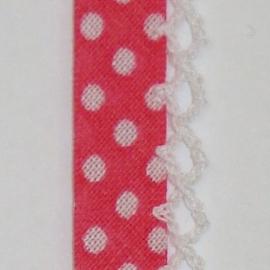 Biaisband roze stip (13)