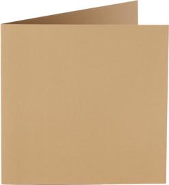 vierkante kaart (13,2 x 13,2 cm) mocca (953) voorheen 53 mocca