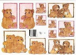 knipvel: knuffelberen roze