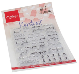 Clear stamp Kerst Post CS1069