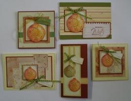 Voordeel-pakket oranje kerst-ballen