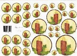 knipvel: cirkel 8: bruine kaarsjes