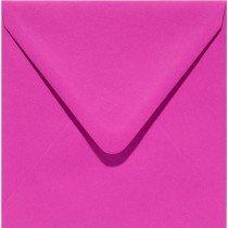 vierkante envelop (14 x 14 cm) felroze (912)