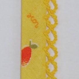Biaisband gele bloemen (07)