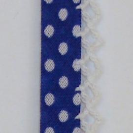 Biaisband donkerblauwe stip (25)