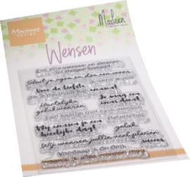 Clear stamp Wensen by Marleen CS1078