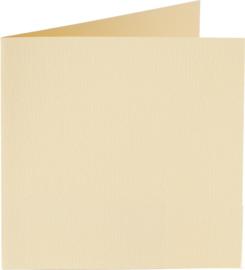 rechthoekige staande kaart (10,5 x 14,8 cm) crème (927) voorheen 27 creme