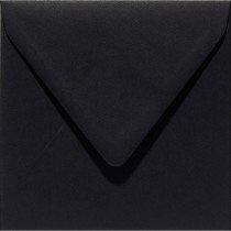 vierkante envelop (14 x 14 cm) ravenzwart (901) voorheen 01 ravenzwart
