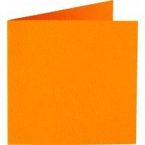 vierkante kaart (13,2 x 13,2 cm) oranje (911) voorheen 11 oranje