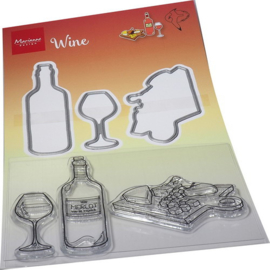 Clear stamps & dies Hetty's Wine HT1665