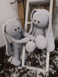 XXL Haakpakket Funny Bunny Basic grijs (staand / zittend)