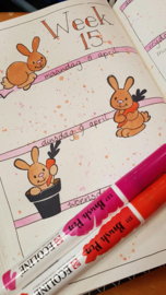 Clear stamp: (EC0178) Eline's cute bunnies
