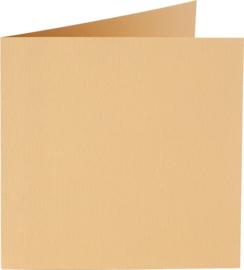 vierkante kaart (13,2 x 13,2 cm) caramel (926) voorheen 26 caramel