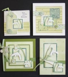 Voorbeeld kaarten sneeuwklokjes