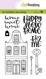 Clear Stamp Carla Kamphuis: A6 - handletter - New home 1 (Engels)
