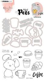 Missees - Clear Stamp met stansen Coffee bunny BASICSDCKJ08