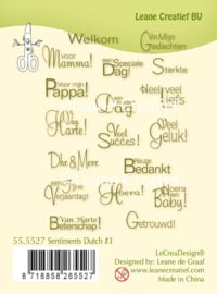 Clear stamp Leane: Sentiments #3 Dutch Texts (555527)