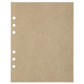 (Art.no. 920809) 20 vel MyArtBook Paper 110 GSM Recycling Kraft Fluting Grey Size 165 x 210 mm (A5)