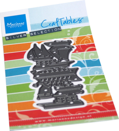 Craftables stencil Punch die boats CR1553
