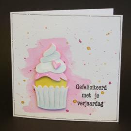 CraftEmotions clearstamps A6 - tekst typewriter gefeliciteerd (NL)