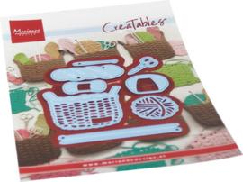 Creatables stencil Wool basket LR0689