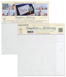 2 Templates for Handlettering Alphabet style 1, Upper case + Lowercase + Numbers