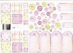 vel: roze patchwork