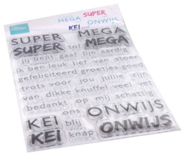 Clear stamp SUPER-MEGA-KEI-ONWIJS CS1066
