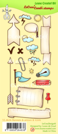 Clear stamp Leane: Banners, arrows & icons (554636)