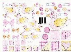 vel: roze eendjes