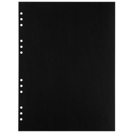 (Art.no. 920610) 20 vel MyArtBook Paper 120 GSM Black drawingpaper Size 314 x 420 mm (A3)