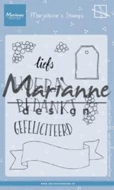 Clear stamp: (MZ 1904) Marjoleine's teksten en labels NL