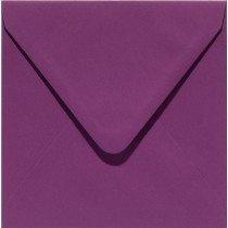 vierkante envelop (14 x 14 cm) aubergine (909)