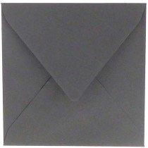 vierkante envelop (14 x 14 cm) donkergrijs (971)