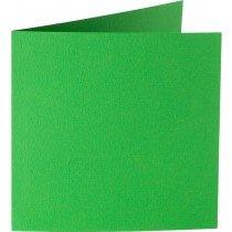 vierkante kaart (13,2 x 13,2 cm) grasgroen (907) voorheen 07 grasgroen