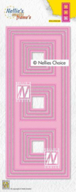 Nellies Choice Multi Frame Die - Slimline vierkant MFD140