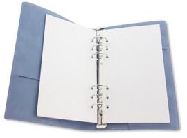 Ringband Planner - voor papier 120x210mm - lichtblauw PU leather