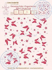 Embossing folder Leane: background butterflies (352113)