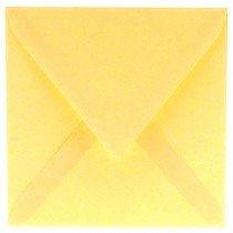 vierkante envelop (14 x 14 cm) vanille (963) lijkt op lichtgeel 29