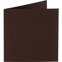 vierkante kaart (13,2 x 13,2 cm) donkerbruin (938) voorheen 38 donkerbruin