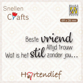 Nellies Choice Clearstamp - Text (NL) - Dieren condoleance nr.6 DTPCS006