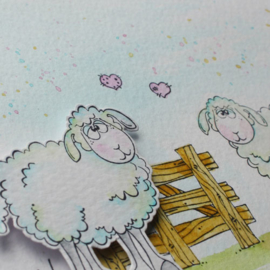 Clear stamp Leane: Schapen 556333